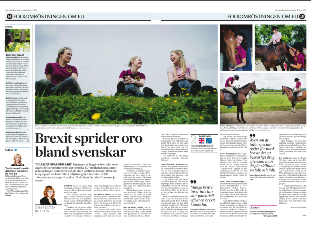 Svenska Dagbladet Interview med Helen Rennie-Smith 21 juni 2015